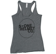 S-ONE Helmet Co. - Seal Logo Racer Back Tank - Heather Grey Tri-Blend