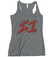 S-ONE Helmet Co. - Team S1 Racer Back Tank - Heather Grey Tri-Blend