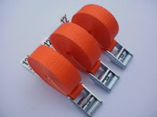 Tie Down and Cargo Straps - 3 Pack of 12' Straps