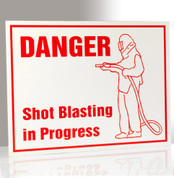 Danger Blasting in Progress Sign