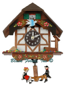 Beautiful Miniature clocks from the Black Forest in Germany.