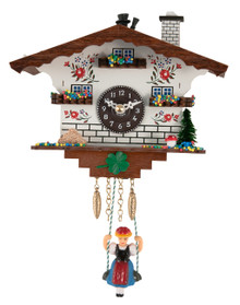105SQK Quartz Swinging Lady Chimney Sweep Miniature Clock