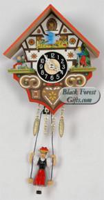192SQ Quartz Hansel and Gretel Miniature Clock