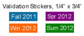 "Validation Stickers, 1/4"" x 3/4"", Standard Film Material"