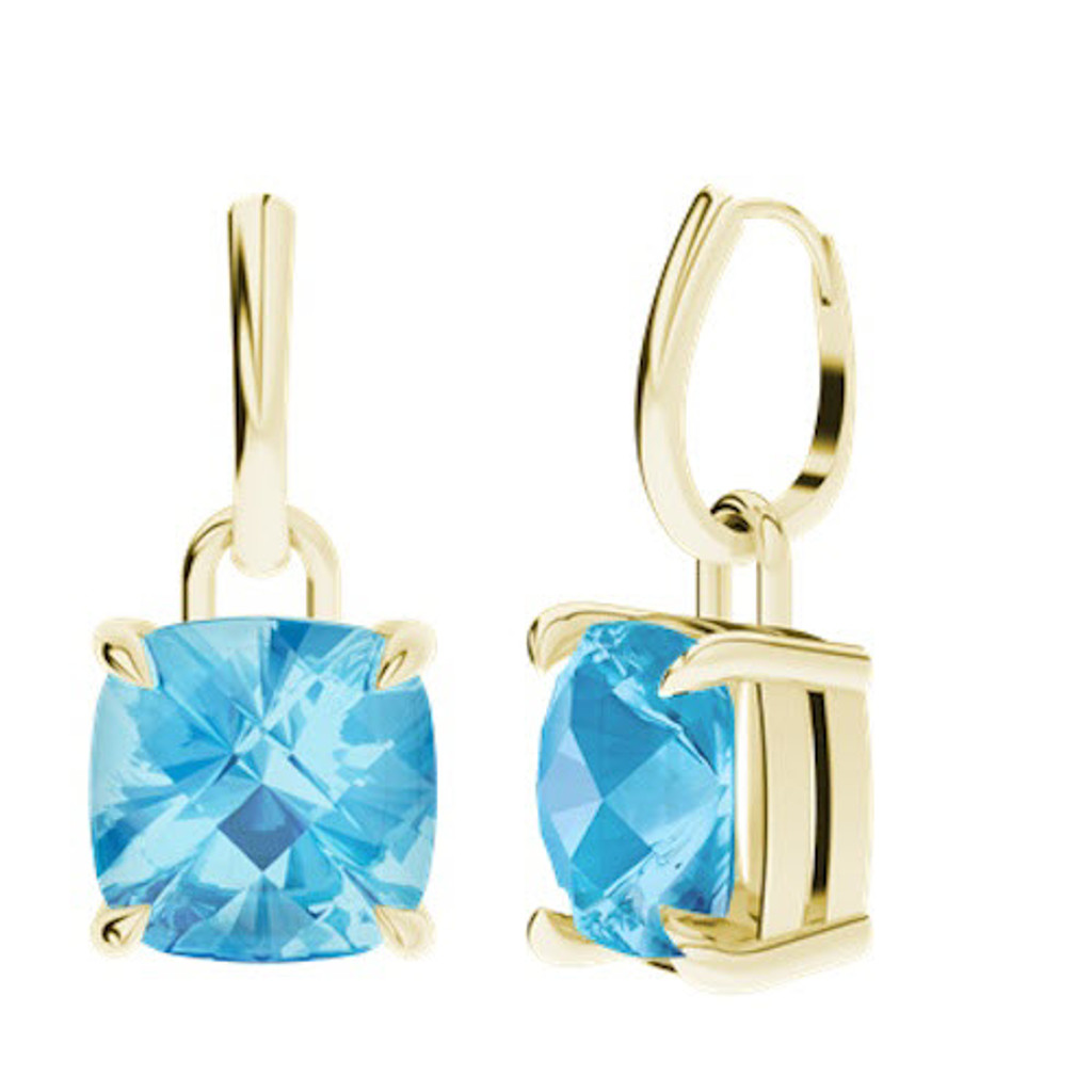 stylerocks-10mm-cushion-checkerboard-blue-topaz-yellow-gold-drop-earrings