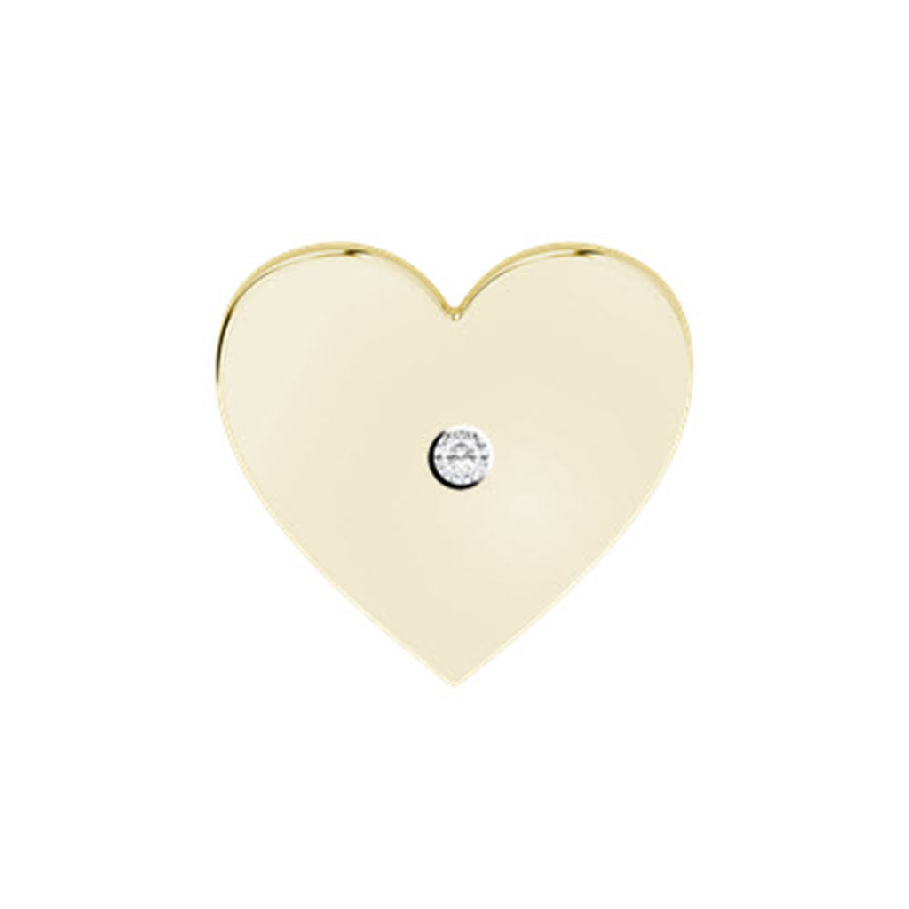 Heart Yellow Gold Cufflinks Diamond