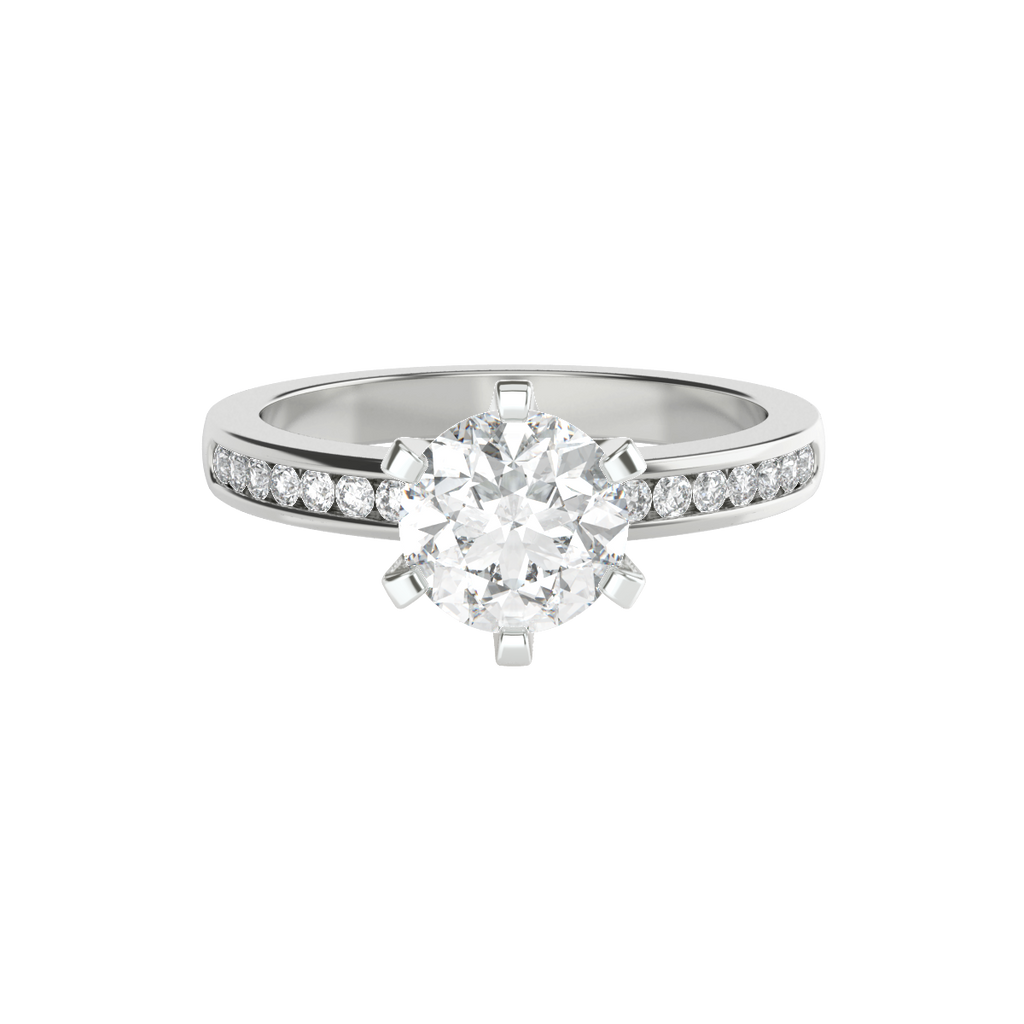 round-brilliant-1carat-diamond-6-claw-engagement-ring-channel-set-diamond-band-14-carat-white-gold-stylerocks