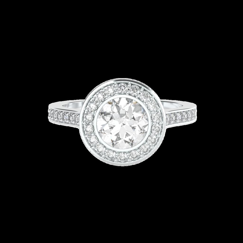 brilliant-cut-diamond-1carat-bezel-set-halo-engagement-ring-14carat-white-gold-diamond-band-stylerocks