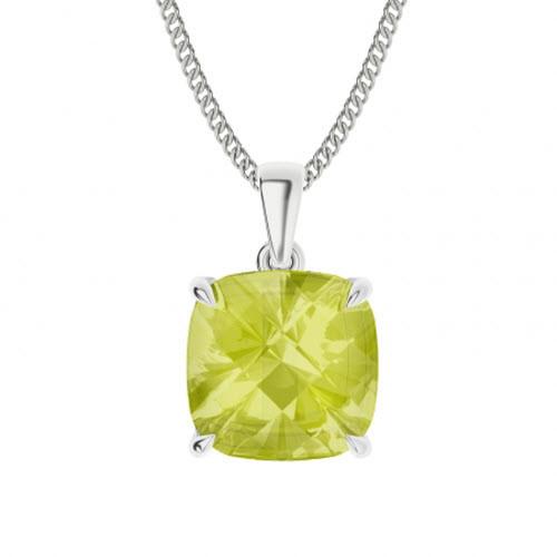 Lemon Quartz Sterling Silver Necklace