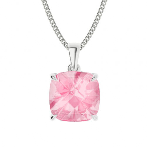 Rose Quartz Sterling Silver Necklace