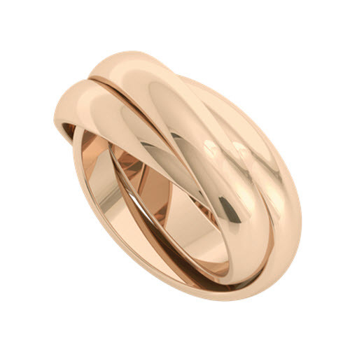 Russian Wedding Ring - Juno 18ct Rose Gold