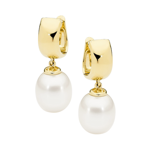 stylerocks-white-pearl-9ct-yellow-gold-huggy-earrings