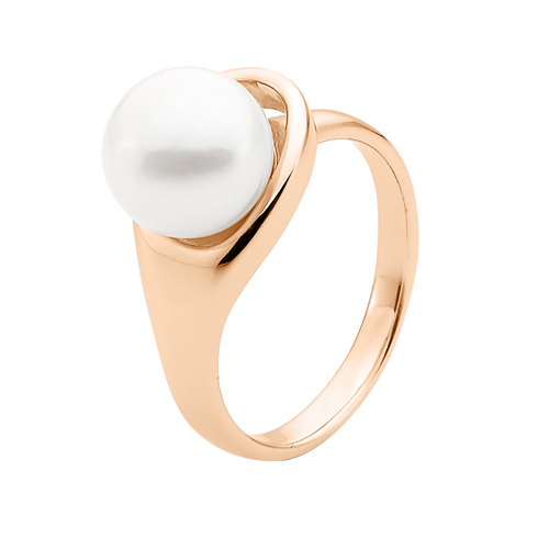 9ct Rose Gold White Pearl Ring
