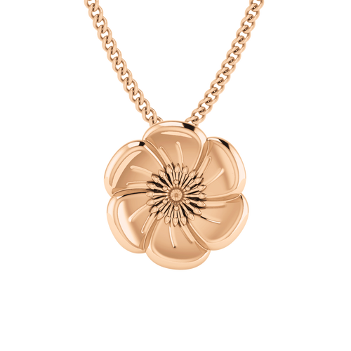 Poppy Necklace - 9ct Rose Gold