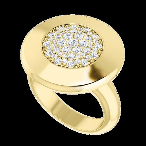 Diamond Raindrops Ring 9 Carat Yellow Gold