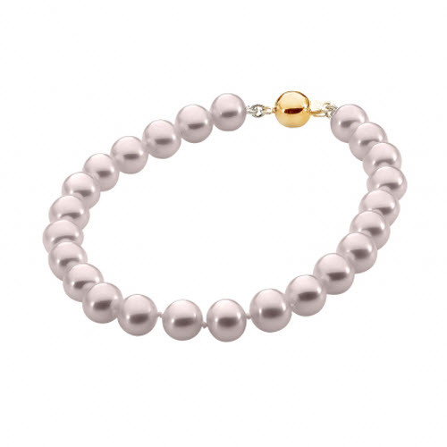 Pink Pearl Necklace with 9ct Yellow Gold Clasp