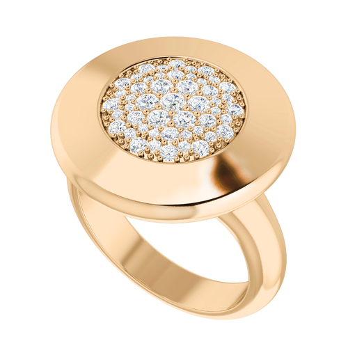 Diamond Raindrops Ring 9 Carat Rose Gold