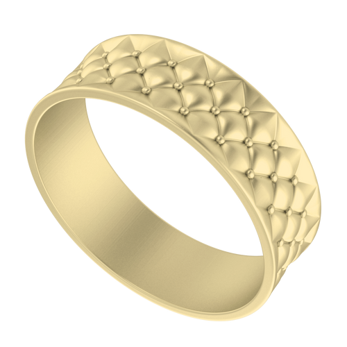 Lattice Bangle 9 Carat Yellow Gold