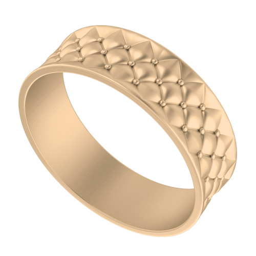 Lattice Bangle 9 Carat Rose Gold