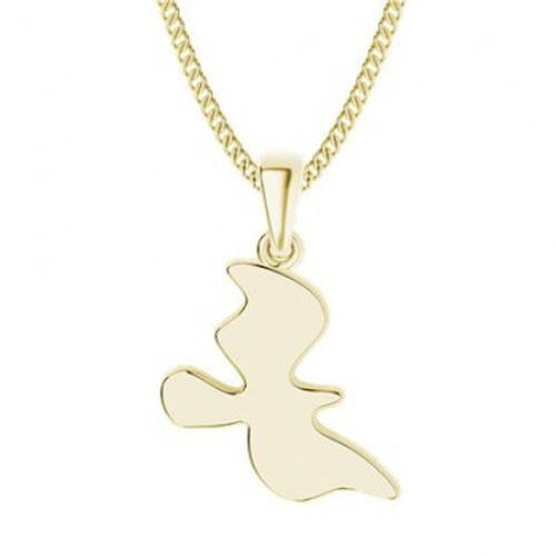 Yellow Gold-Plate Dove Necklace