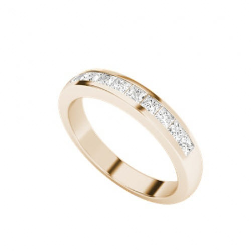 Princess Cut Diamond Wedding Eternity Ring 9ct Rose Gold