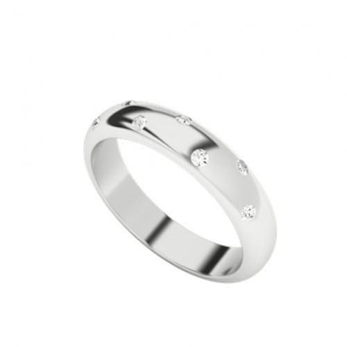 Diamond Domed Ring 9ct White Gold