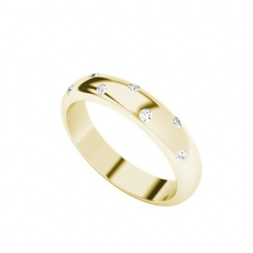 Diamond Domed Ring 9ct Yellow Gold