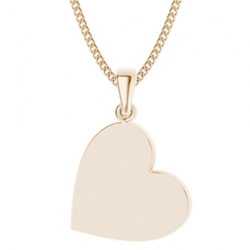 Rose Gold-Plate Heart Pendant