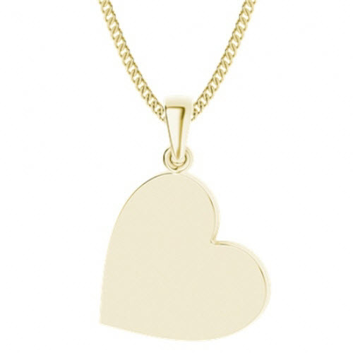 Yellow Gold-Plate Heart Pendant
