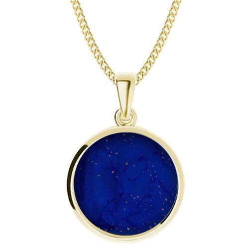 Lapis Lazuli Yellow Gold-Plate Pendant
