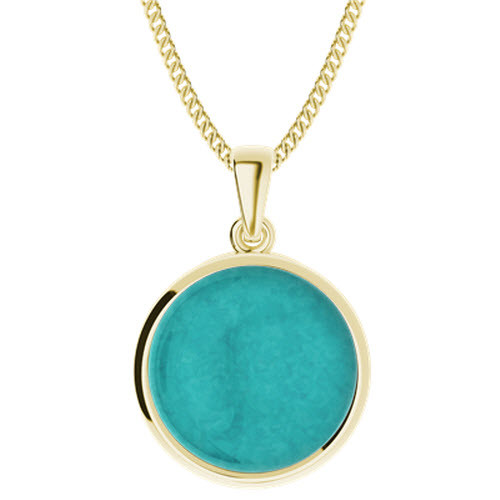 Amazonite Yellow Gold-Plate Pendant