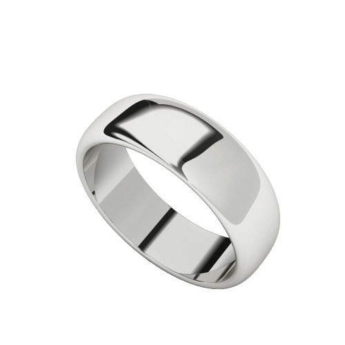 Sterling Silver Ring with Round Profile