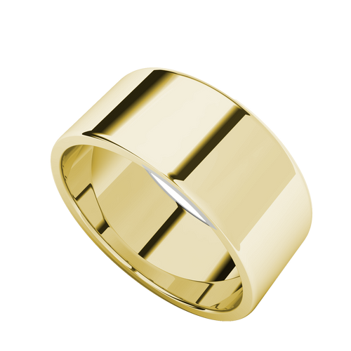 Wedding Ring with Flat Profile Yellow Gold