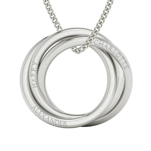 Russian Ring Necklace  - the 'Charlotte' - Sterling Silver. As worn by Cate Blanchett