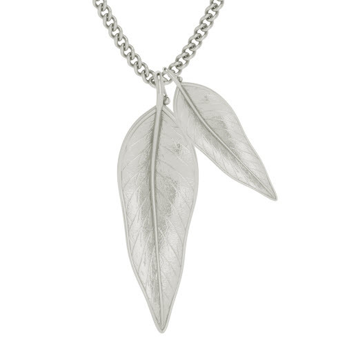 Terre-Et-Mer Two Leaf Necklace - Silver