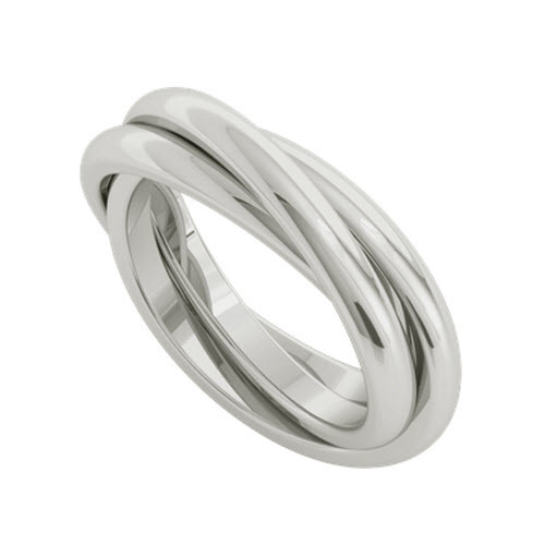 Russian Wedding Ring - Willow 9ct White Gold