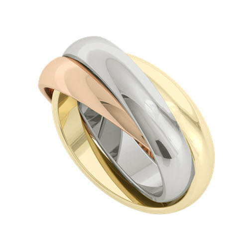 Russian Wedding Ring - Juno 9ct Multi-Gold