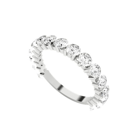 Round Brilliant Cut Diamond 9ct White Gold Wedding Eternity Ring