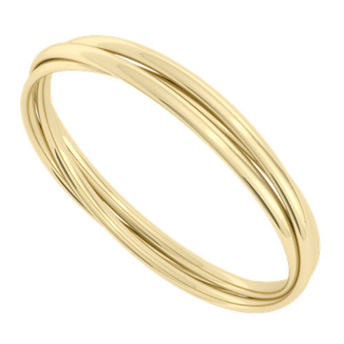 Russian Bangle - the 'Diana' 9ct Yellow Gold