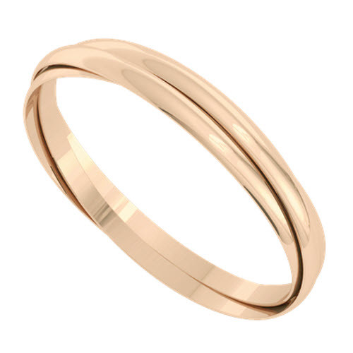 Russian Bangle - The 'Venus' 9ct Rose Gold