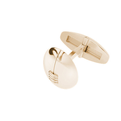 Rugby Ball Cufflinks Rose Gold-Plate