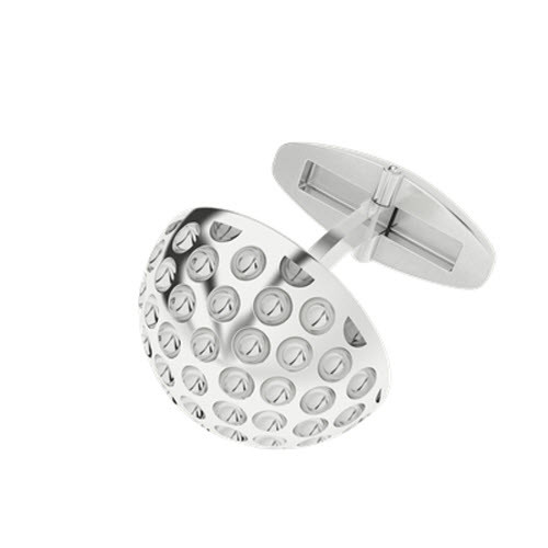 Golf Ball Silver Cufflinks