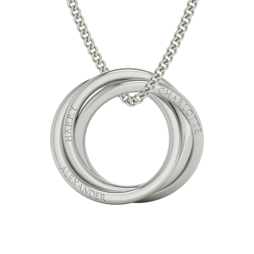 Russian Ring Necklace - The 'Alexandra' Sterling Silver