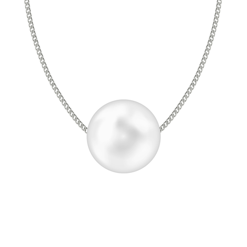 South Sea Pearl Necklace on Sterling Silver Chain
