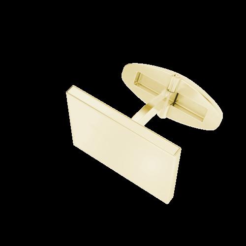 Men's Rectangular Cufflinks 9ct Yellow Gold