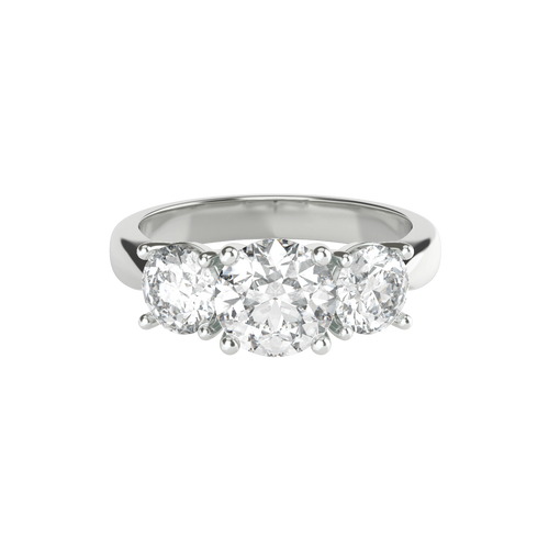 Brilliant Cut Three Stone Diamond 14ct Engagement Ring - 'Victoria'