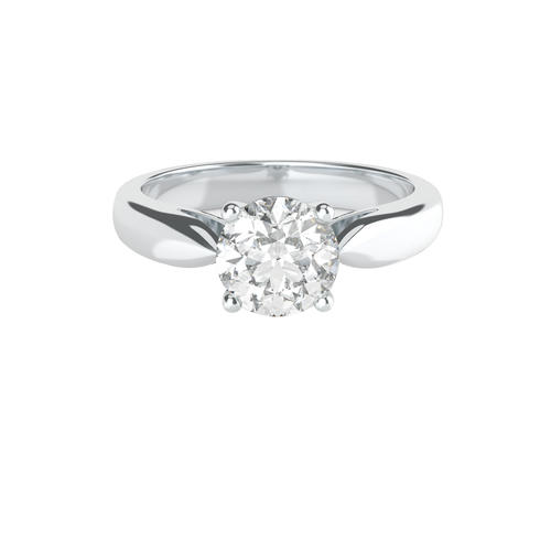 Brilliant Cut 4 Clawed Solitaire 14ct White Gold Engagement Ring - 'Florence'