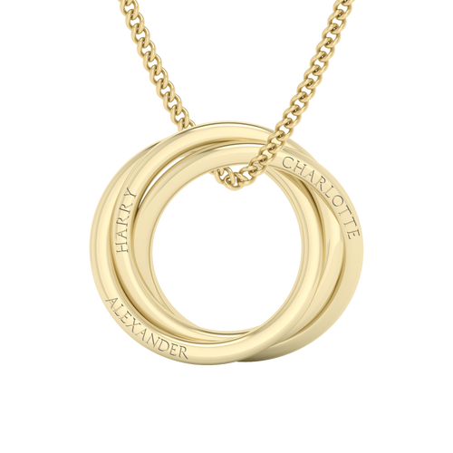 Russian Ring Necklace - The 'Alexandra' 9ct Yellow Gold