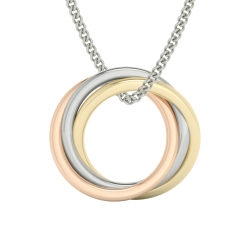 Russian Ring Necklace (Multi Gold)