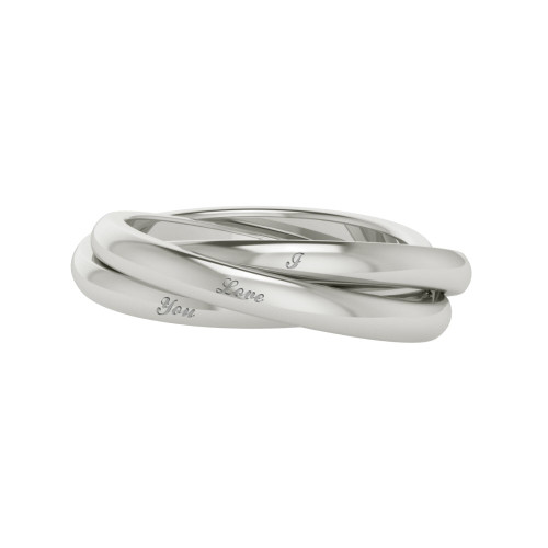 Russian Wedding Ring - 'Willow' 9ct White Gold